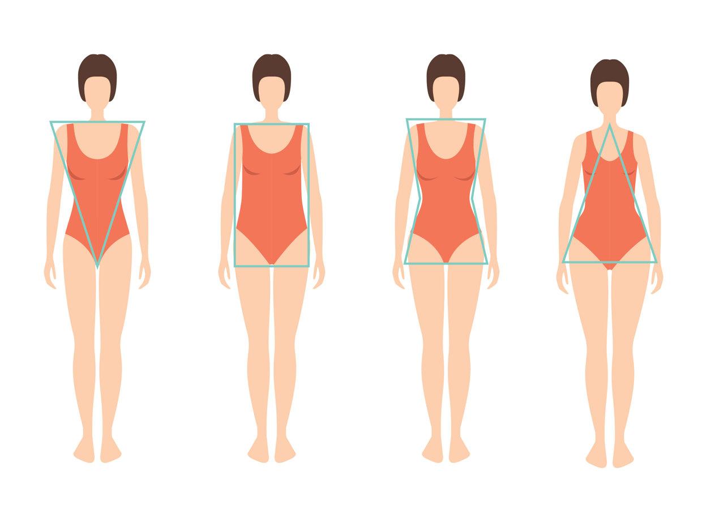 Разные типы женских фигур