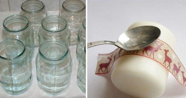 Простые белые свечи на новогоднем столе - изысканный дизайн!