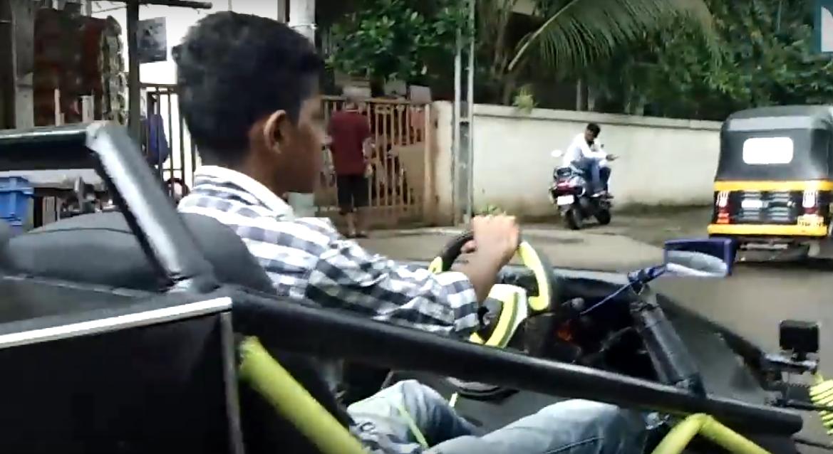 Парень из Индии построил автомобиль своими руками
