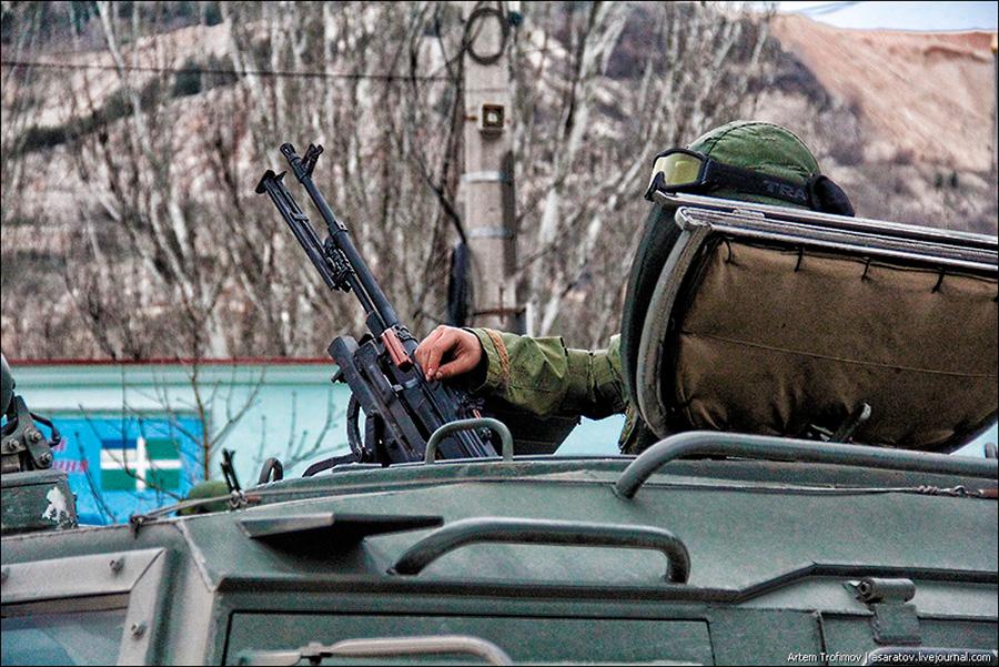 Очередная перестрелка на границе с Крымом ...