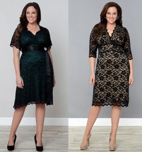 Модные платья для полных на …