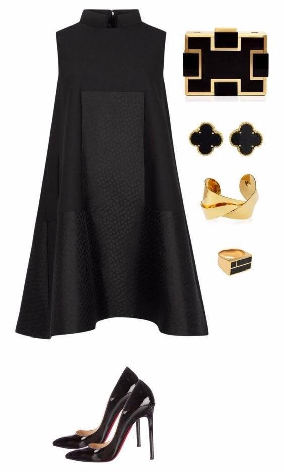 В стиле Коко Шанель: 8 вечерних образов с черным платьем
