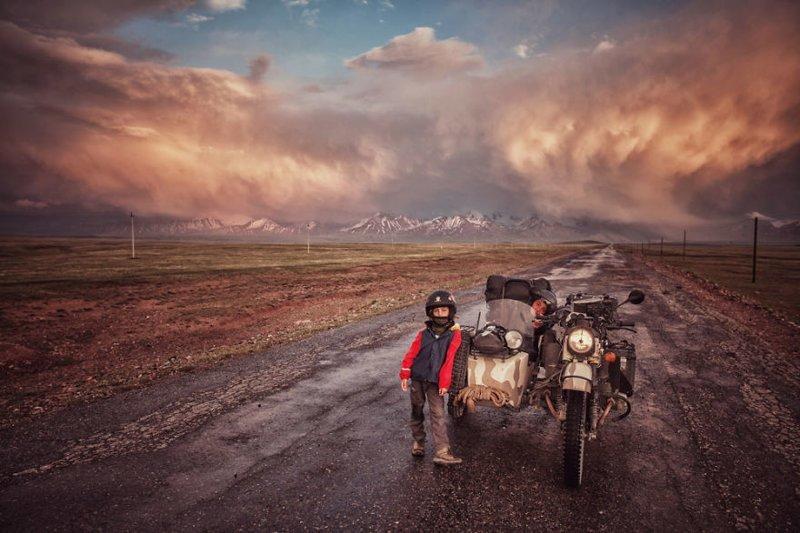 Кыргызстан монголия, мотоцикл, мотоцикл с коляской, мотоцикл урал, путешественники, путешествие, средняя азия, туризм