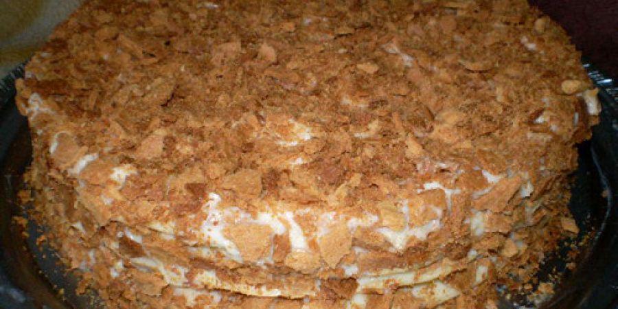 Торт наполеон рецепт в домашних условиях с фото со сгущенкой