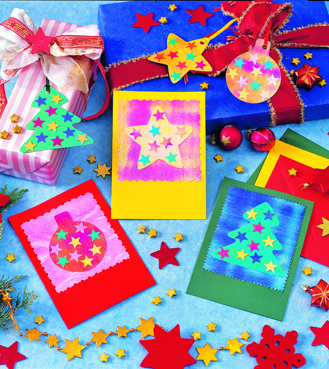 Бумажные ярлычки для новогод…
