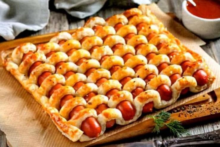 Сосисочный пирог