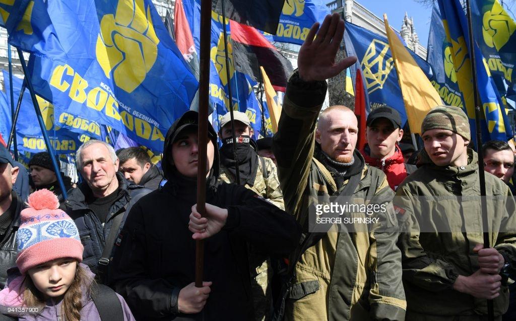 Ультраправые маршируют по Киеву (фото).