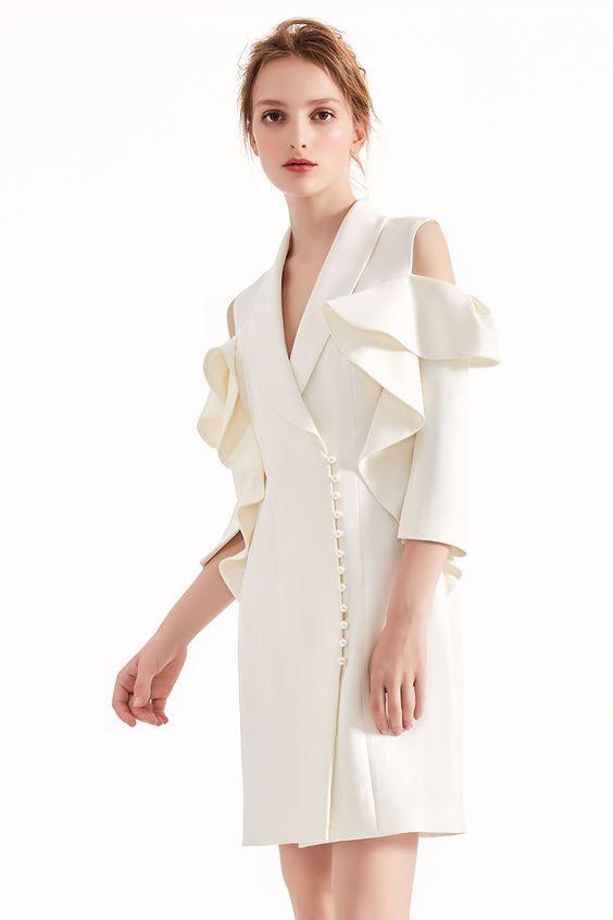 Платья на основе пиджака (подборка идей)