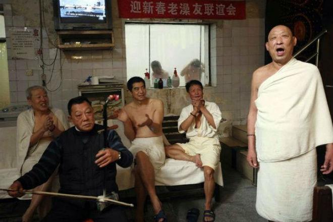 Как ходят в баню в Китае