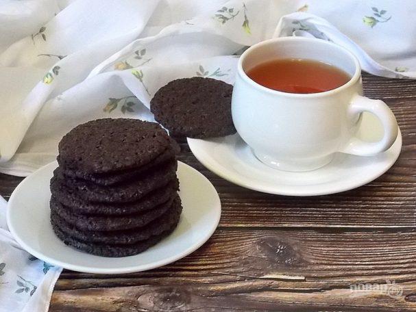 Шоколадное печенье «Вафли»