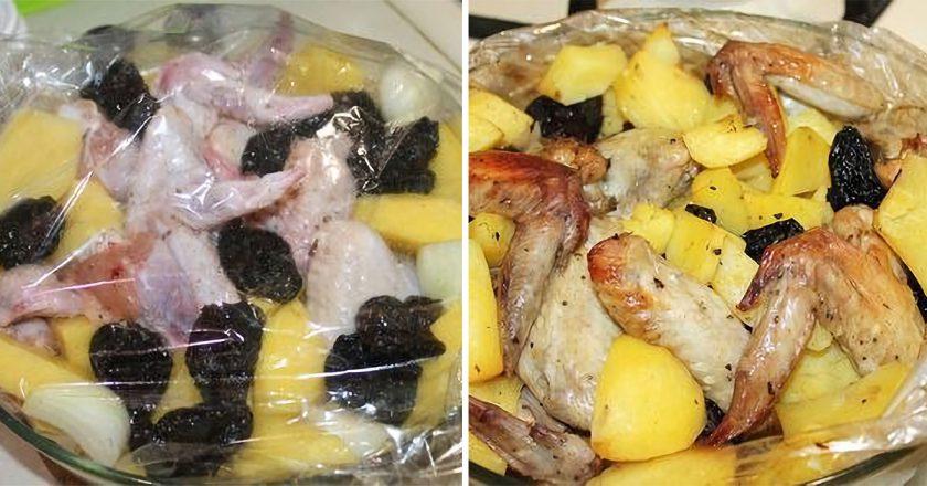 Крылышки с черносливом: очень простое, но невероятно сочное блюдо