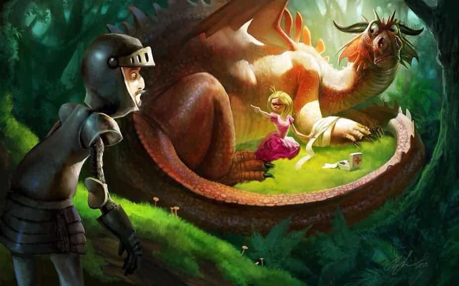 Недобрые сказки от Бормора. О драконах, рыцарях, принцессах...