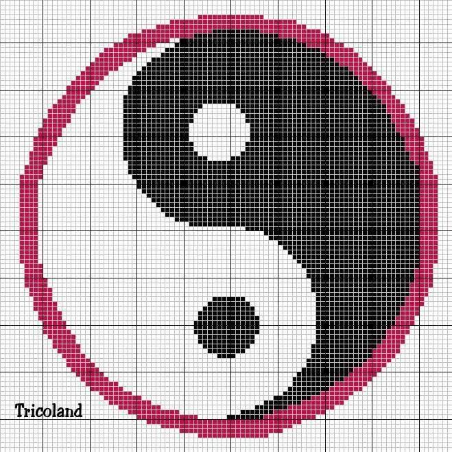 9. Схема фенечки Инь-Янь