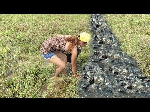 Удивительная красивая рыбалка для девочек   Лучшая женская рыбалка в Камбодже #3