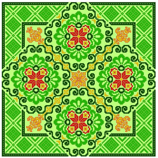 Вышивка «Подушка Макошь»
