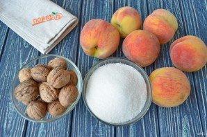 Варенье из персиков с грецкими орехами - фото шаг 1