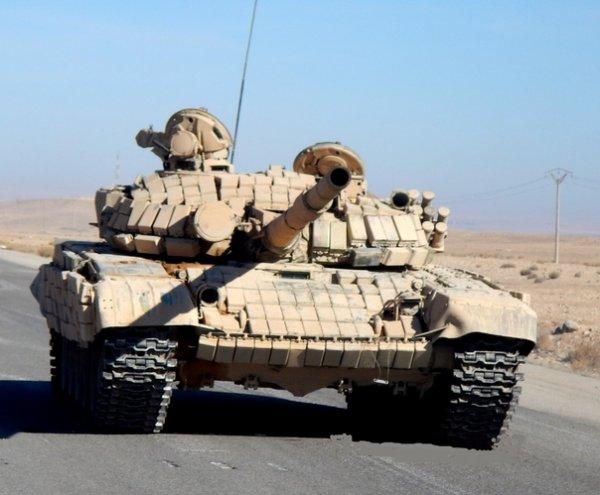 Основные танки Т-72Б в сирийском конфликте