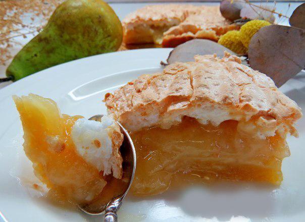 Божественное сочетание — Грушевый пирог с карамельной заливкой