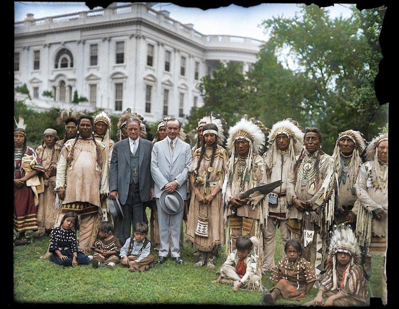 Фото коренных американцев 1920-х годов в цвете