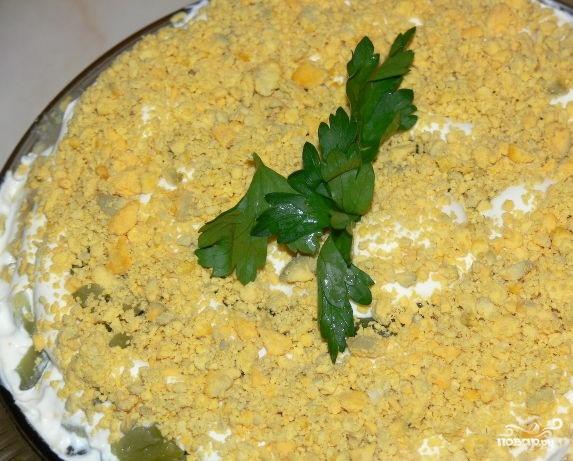 Рецепты салата из печени и соленых огурцов