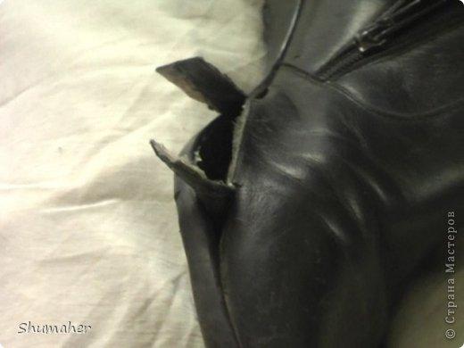 Внутренняя заплатка (ремонт обуви, видео)
