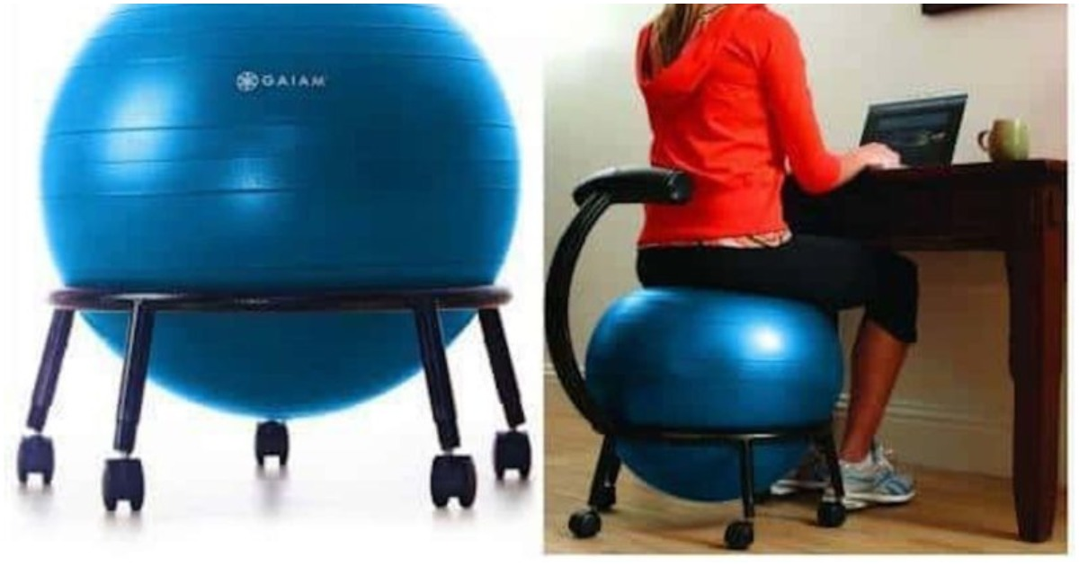 Новое кресло с мячом для фитнеса может оказаться вашим лучшим приобретением за последние годы