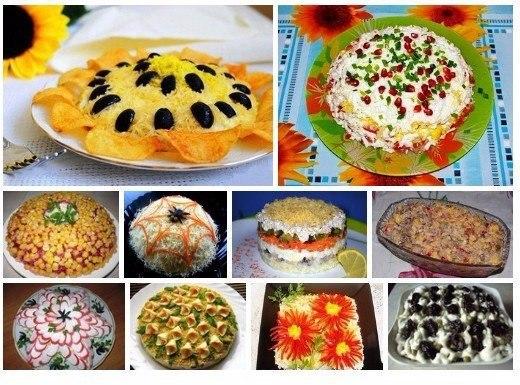 ТОР - 10 Рецептов приготовления праздничных салатов