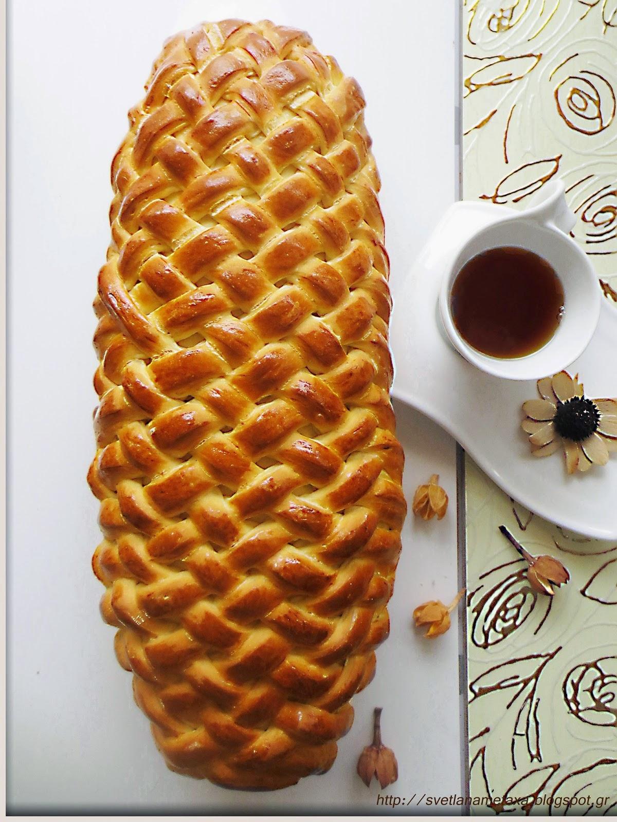 Рулет «Плетенка» с начинкой из яблок и изюма — красиво и очень вкусно!