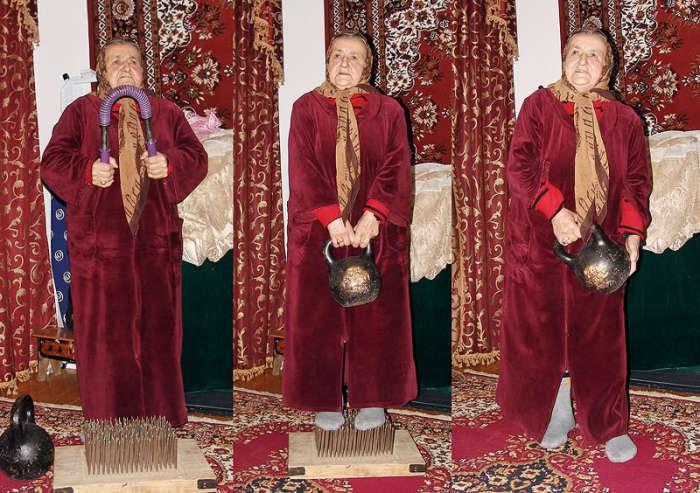 Сакинат Ханапиева - самая сильная бабушка в мире.