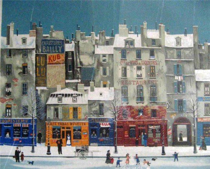 Зима в Париже.  Автор: Michel Delacroix.