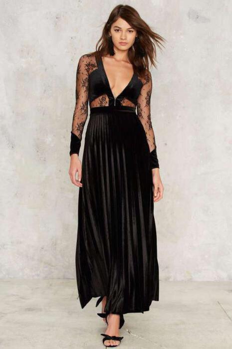 Бархатная юбка в вечернем образе: как вам?