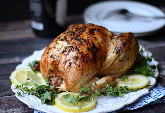 Сочная курица на соляной подушке