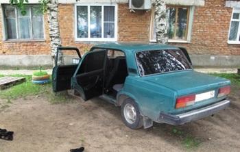 В Калужской области угонщик уснул, пытаясь завести машину