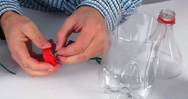 Никогда бы не подумала, что из простой пластиковой бутылки может получиться… Санта-Клаус
