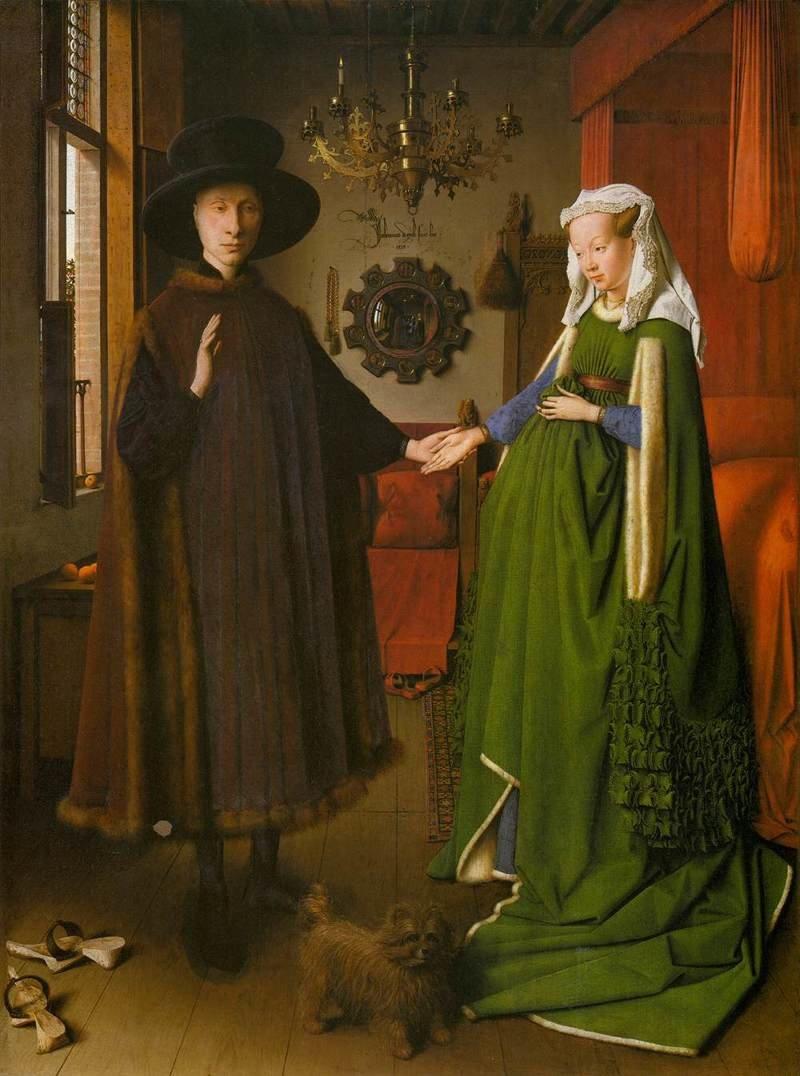 Портрет четы Арнольфини зеркала, интересное, картины, мир