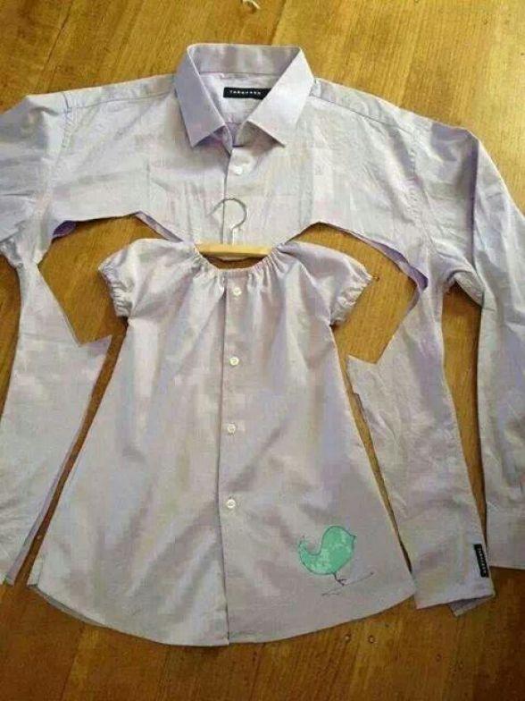 Шьем фартук из мужской рубашки - МирТесен 13
