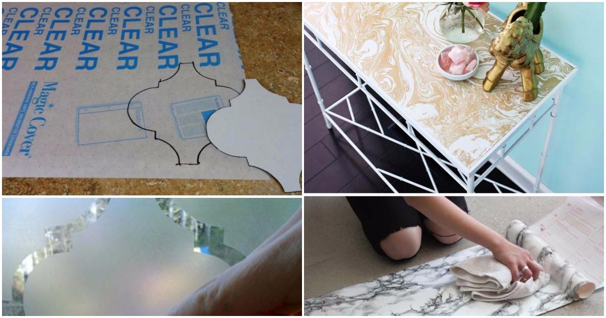 17 стильных способов обновить интерьер с помощью самоклеющейся пленки