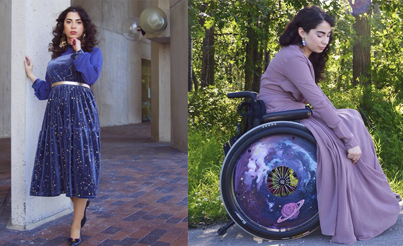 Инвалидное кресло — не приговор: девушка использует средство передвижения как модный аксессуар
