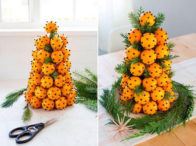 Картинки по запросу Елка из мандаринов