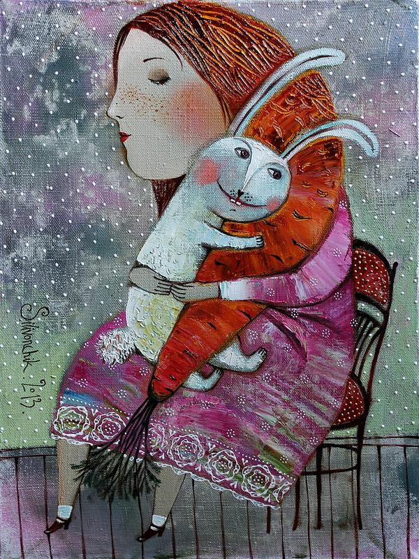 Нежные девичьи грёзы. Иллюстрации Анна Силивончик