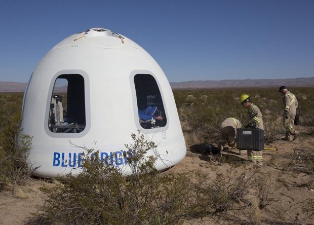 Blue Origin испытала новую версию суборбитальной капсулы