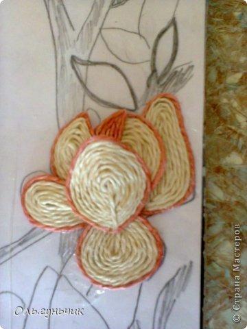 Картина панно рисунок Мастер-класс Моделирование конструирование Филигранный павлин МК Шпагат фото 28