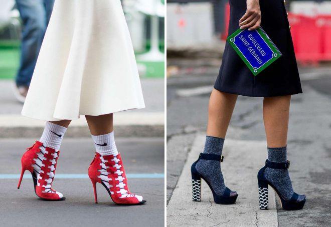 как носить носки с босоножками