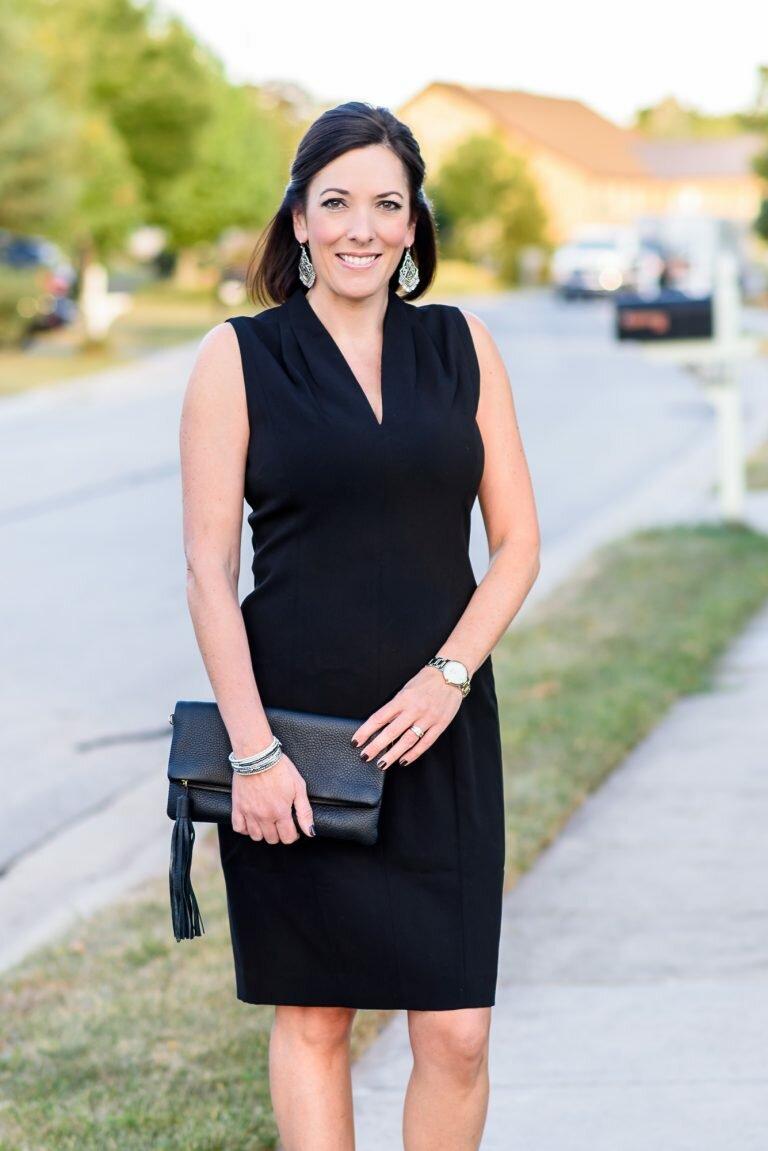 Маленькое черное платье на женщине. /Фото: jolynneshane.com