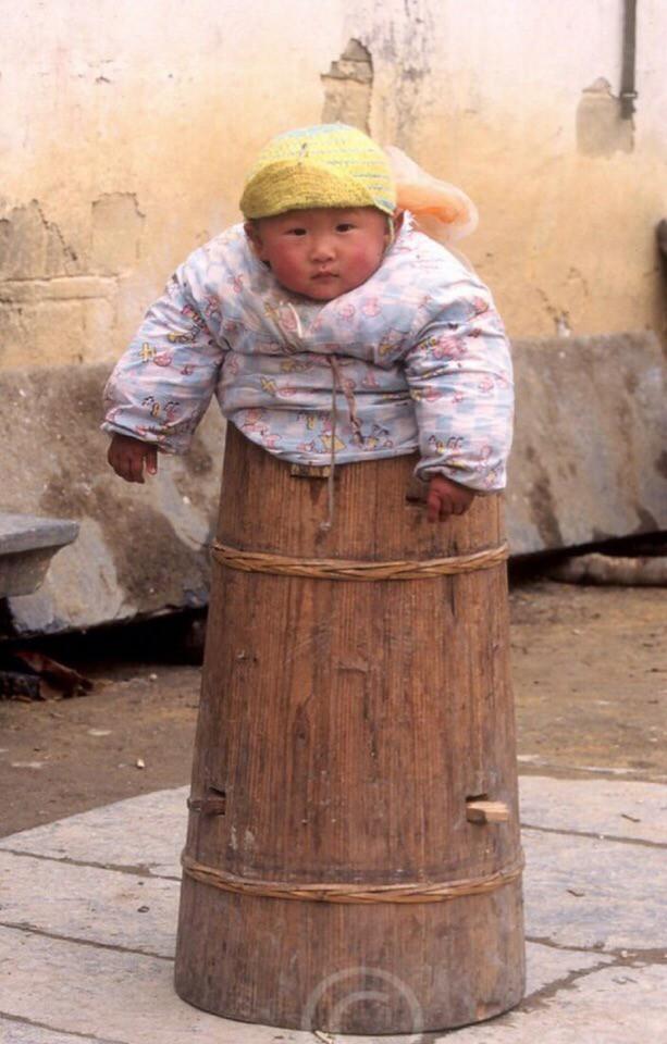 Китайские бочки для малышей. Китайцы, Малыши, Длиннопост, Дети