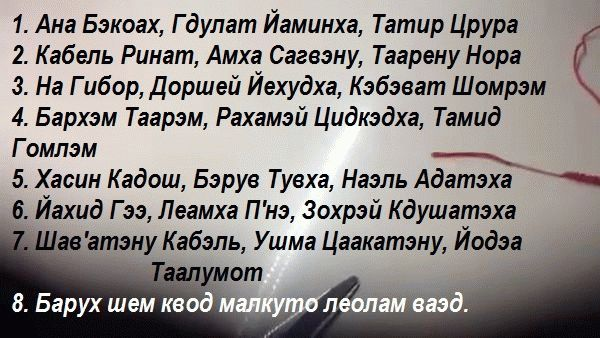 """молитва """"Ана Бэкоах"""""""