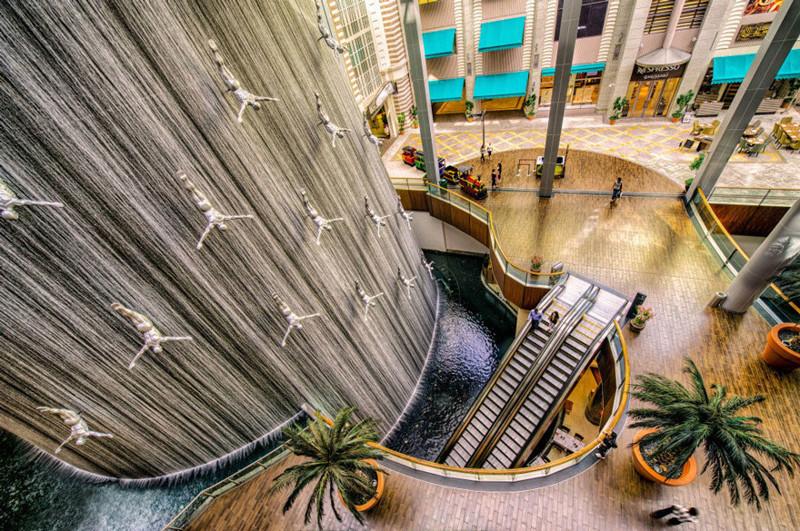 Фонтан в Дубай Молл, Дубай, ОАЭ город, достопримечательность, интересное, мир, подборка, страна, фонтан, фото