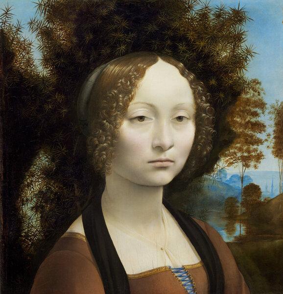 Портрет Джиневры де Бенчи. Леонардо да Винчи, 1470-е
