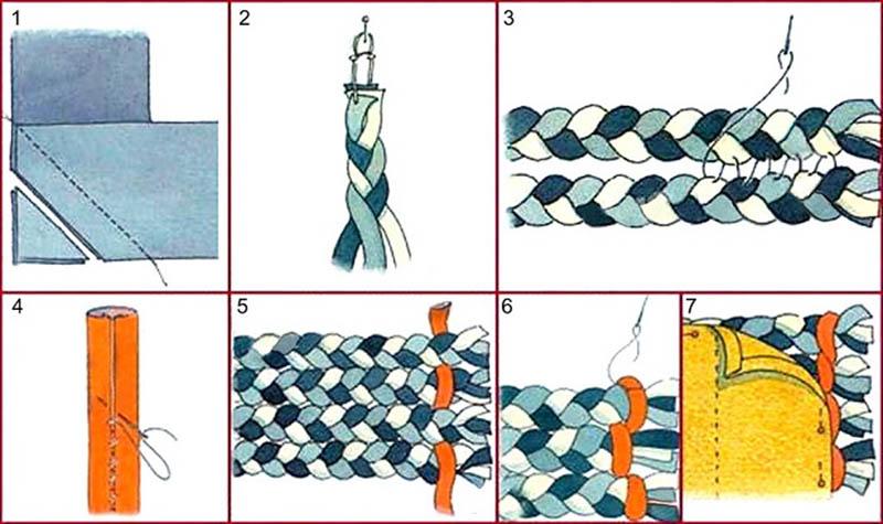 плетеный коврик на пол