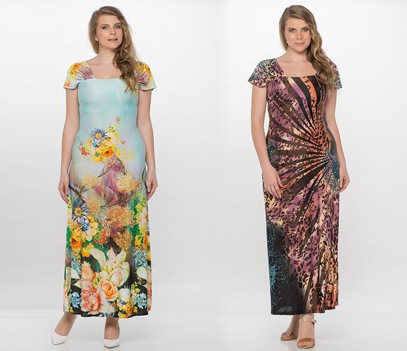 Фото: летние платья для полных женщин